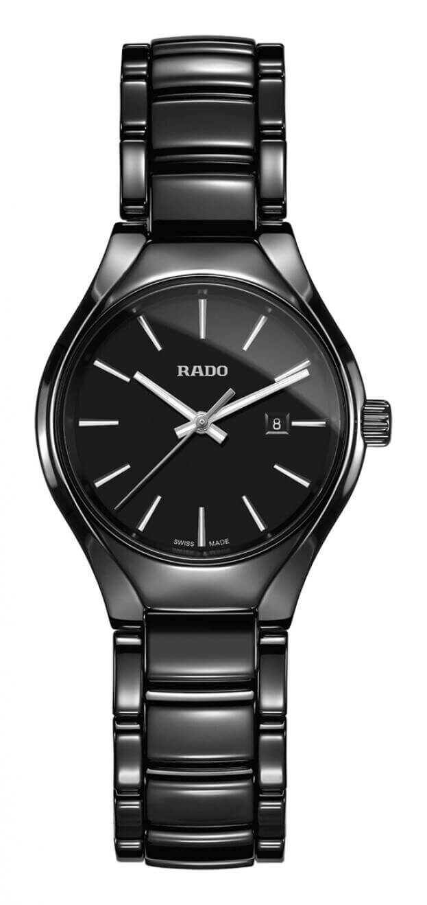 RADO TRUE QUARTZ WATCH 30mm Black Dial Ladies Watch