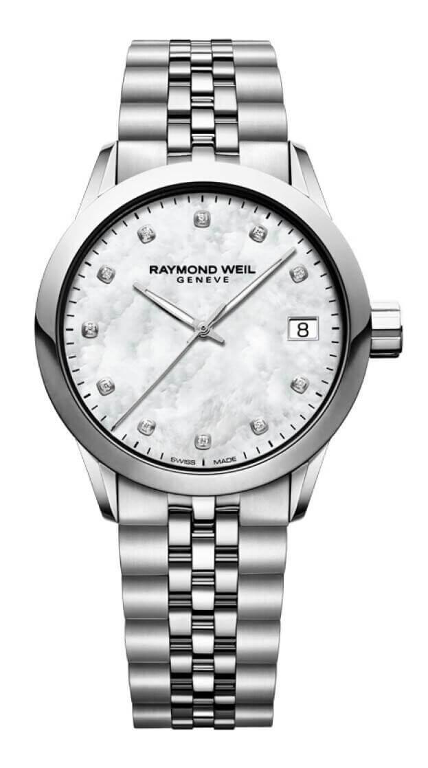 RAYMOND WEIL FREELANCER 34mm Λευκό Καντράν με Μπριγιάν Γυναικείο Ρολόι
