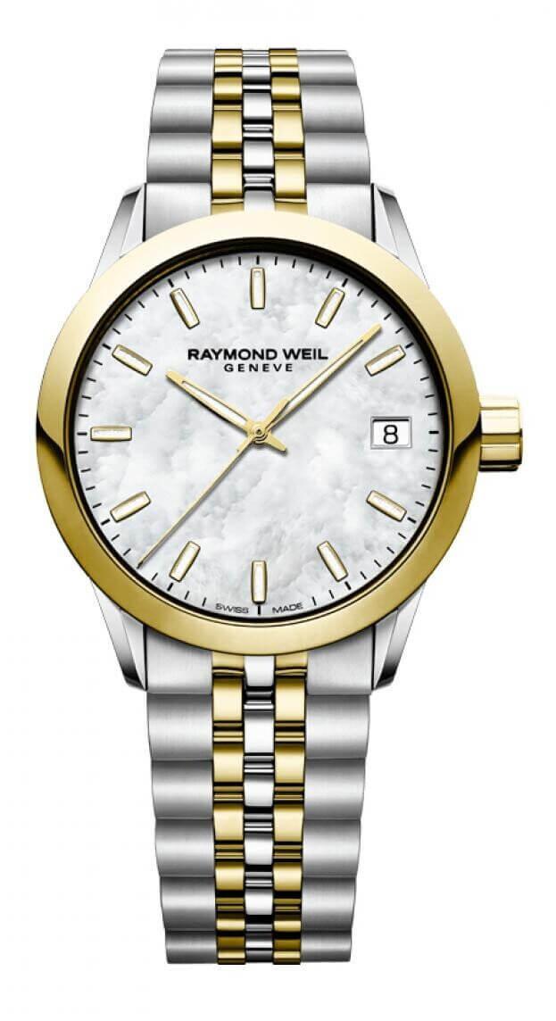 RAYMOND WEIL FREELANCER 34mm Λευκό Καντράν Γυναικείο Ρολόι