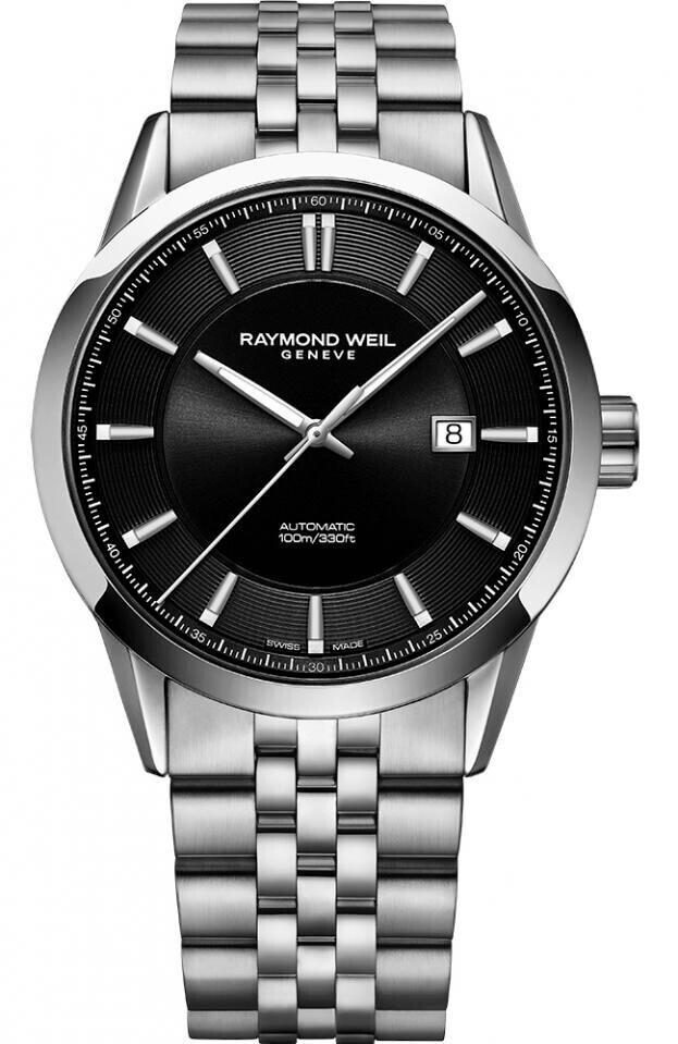 RAYMOND WEIL FREELANCER AUTOMATIC 42mm Μαύρο Καντράν Ανδρικό Ρολόι