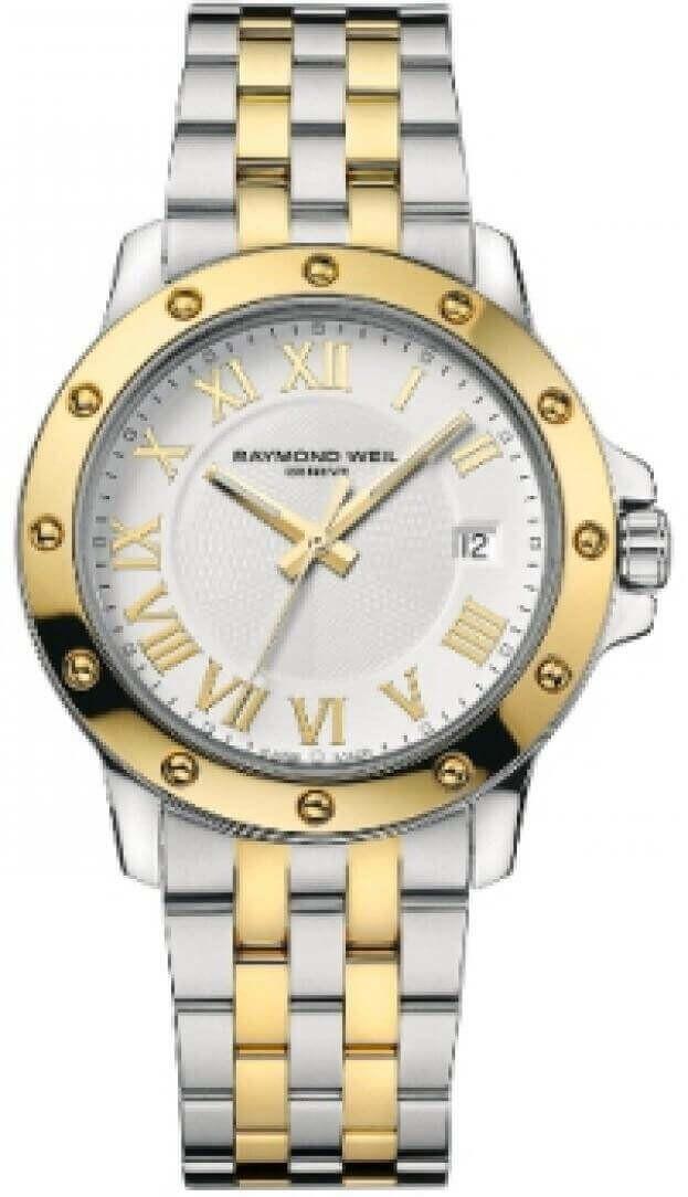 RAYMOND WEIL TANGO 39mm Λευκό Καντράν Ανδρικό Ρολόι