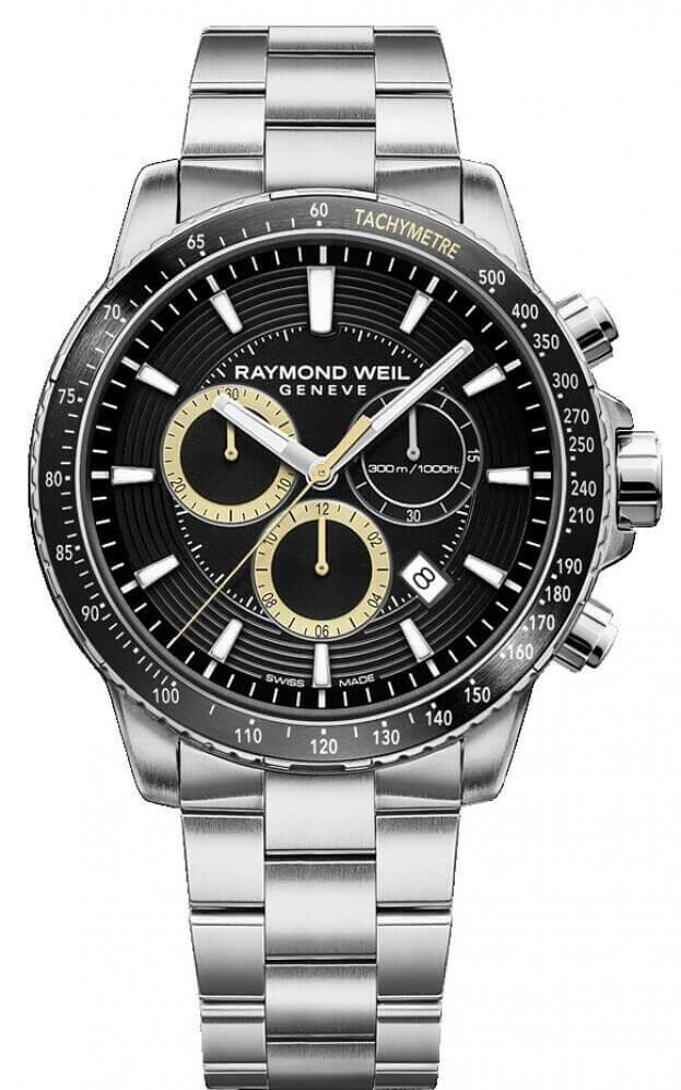 RAYMOND WEIL TANGO MENS CHRONOGRAPH 43mm Μαύρο Καντράν Ανδρικό Ρολόι