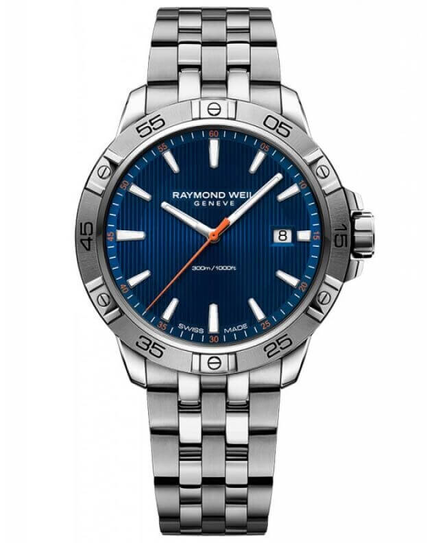 RAYMOND WEIL TANGO MENS WATCH 41mm Μπλε Καντράν Ανδρικό Ρολόι