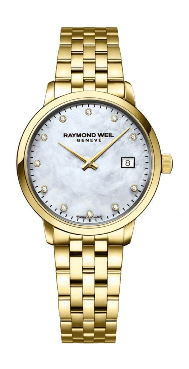 RAYMOND WEIL TOCCATA 29mm ΛΕΥΚΟ MOTHER OF PEARL ΚΑΝΤΡΑΝ ΜΕ ΜΠΡΙΓΙΑΝ
