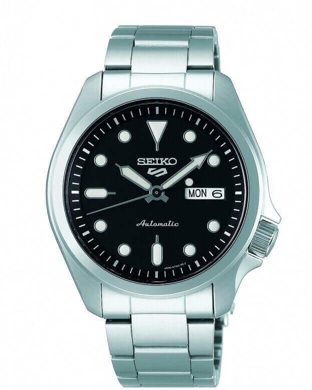SEIKO 5 Sports Automatic Mens Watch 40mm Μαύρο Καντράν Ανδρικό Ρολόι