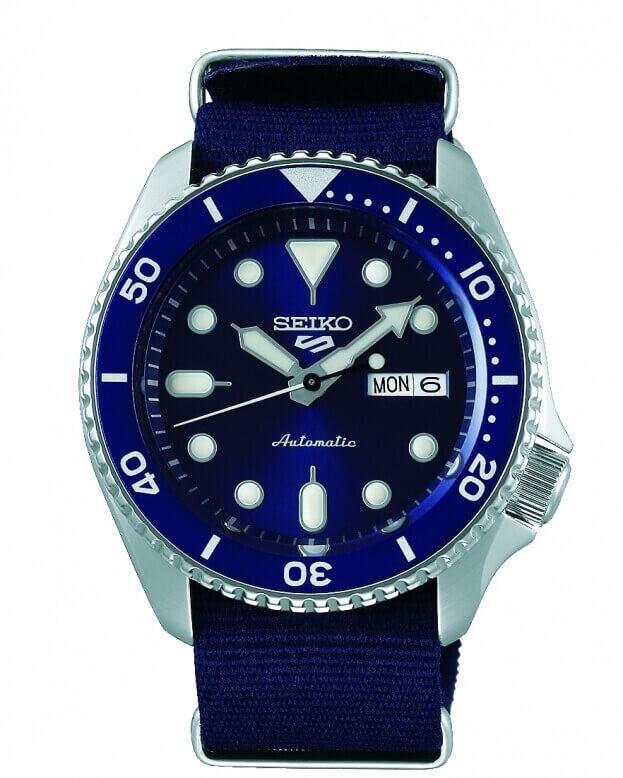 SEIKO 5 Sports Automatic Mens Watch 42.5mm Μπλε Καντράν Ανδρικό Ρολόι