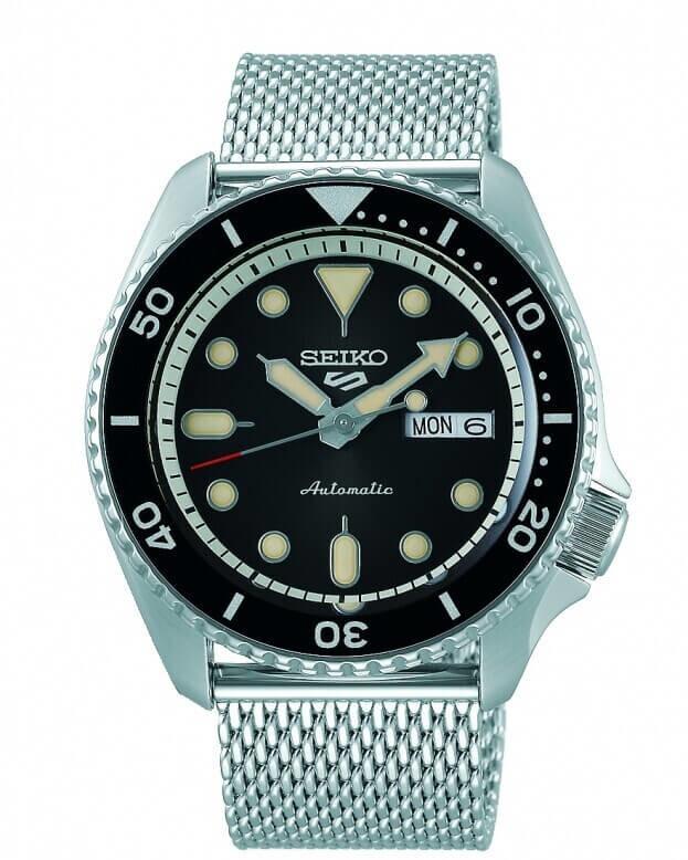 SEIKO 5 Sports Automatic Mens Watch 42.5mm Μαύρο Καντράν Ανδρικό Ρολόι