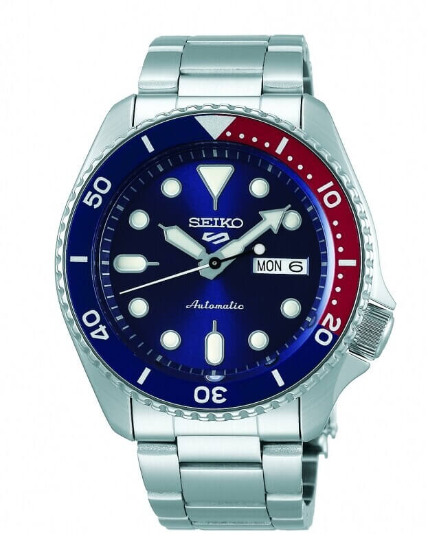 SEIKO 5 Sports Automatic Mens Watch 42.6mm Μπλε Καντράν Ανδρικό Ρολόι