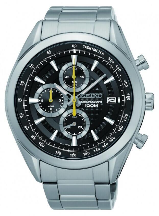 SEIKO Conceptual Chronograph Mens Watch 44.9mm Black Dial