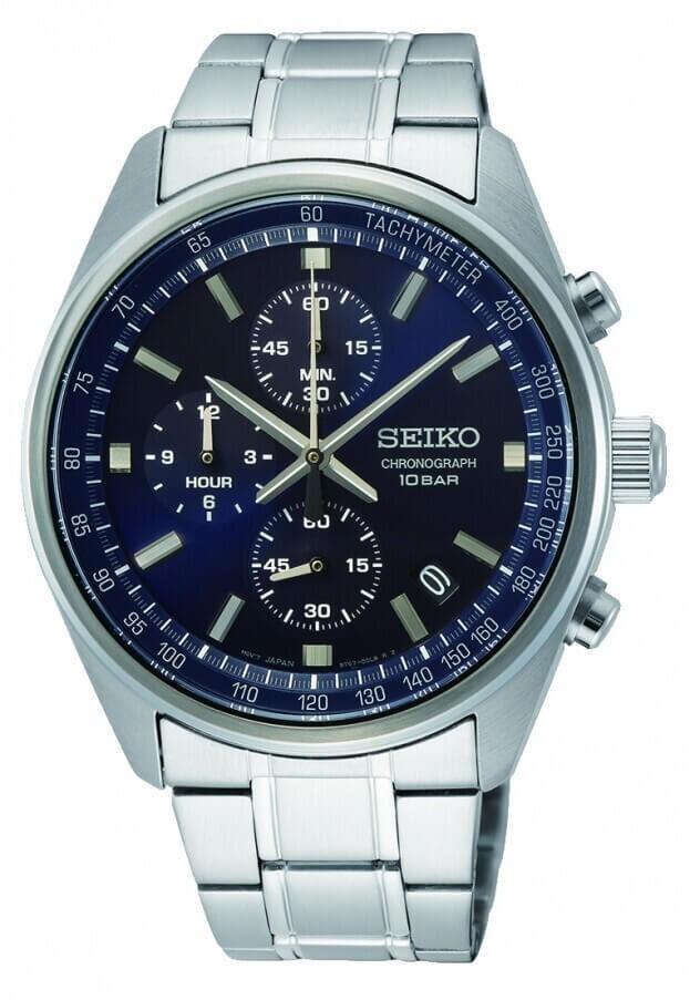 SEIKO Conceptual Chronograph Quartz Mens Watch 41.5mm Blue Dial