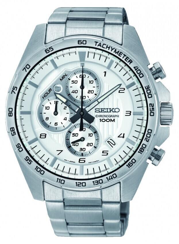 SEIKO Conceptual Chronograph Quartz Mens Watch 43.9mm White Dial