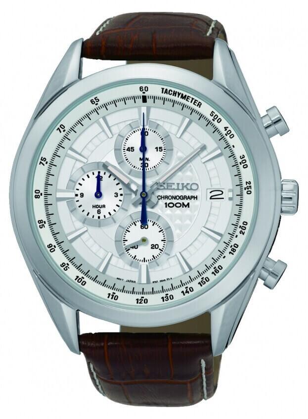 SEIKO Conceptual Chronograph Quartz Mens Watch 44.9mm White Dial