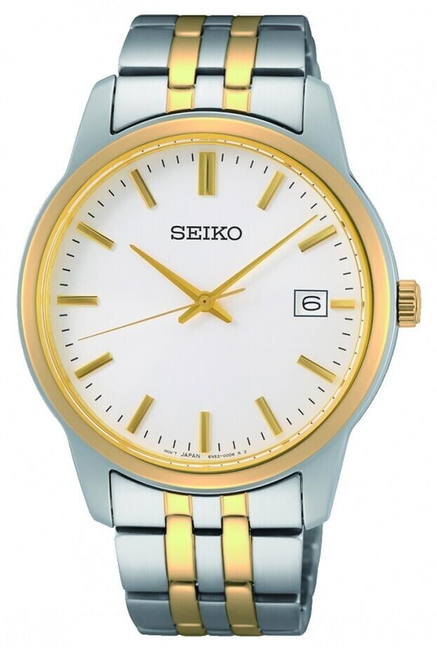 SEIKO Essential Time Quartz Mens Watch 40mm Λευκό Καντράν Ανδρικό Ρολόι