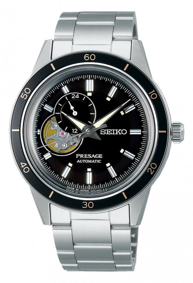 SEIKO Presage Style 60s Automatic 40.75mm Μαύρο Καντράν Ανδρικό Ρολόι