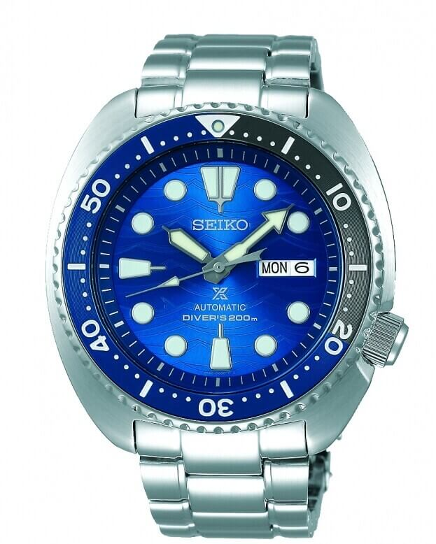 SEIKO Prospex Save the Ocean Automatic Mens Watch 45mm Μπλε Καντράν