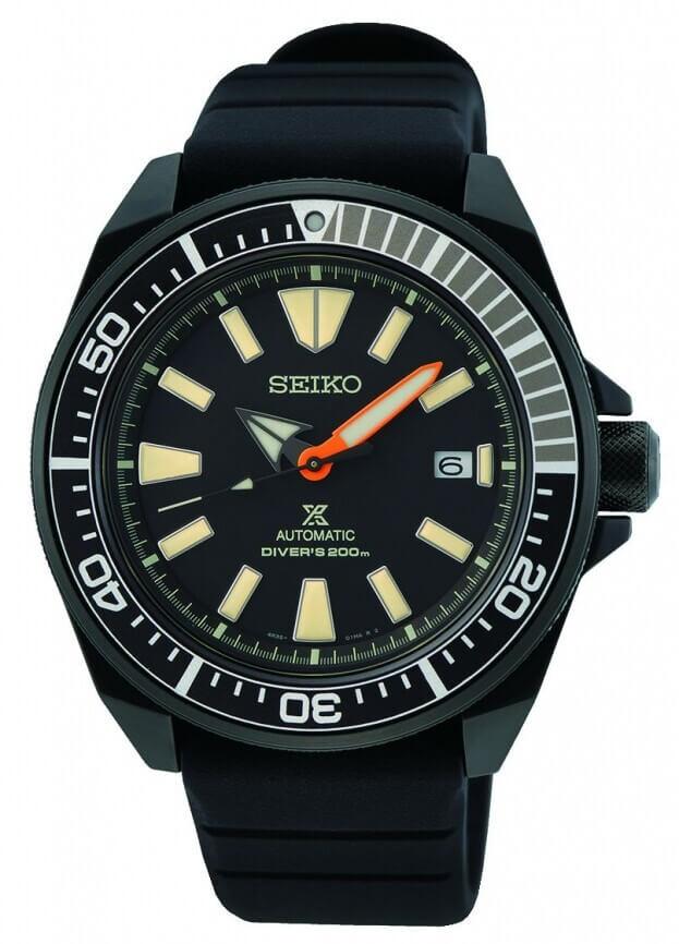 SEIKO Prospex Black Series 'Samurai' Limited Edition Automatic 43.8mm Black Dial