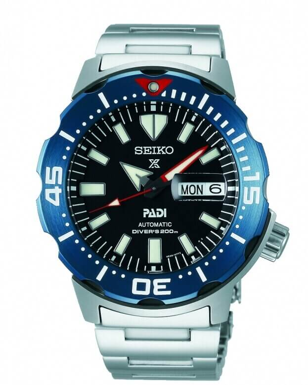 SEIKO Prospex Padi Automatic Mens Watch 42.4mm Black Dial