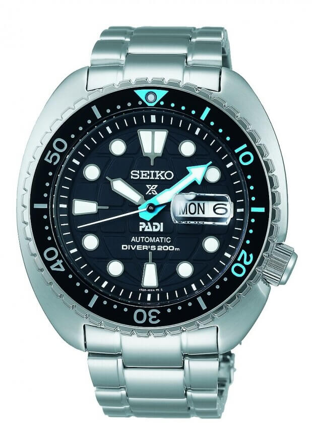 SEIKO Prospex PADI 'Earth' Automatic 45mm Black Dial Mens Watch