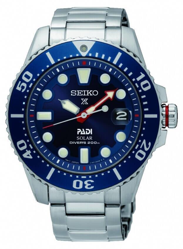 SEIKO Prospex Padi Solar Mens Watch 43.5mm Blue Dial Bracelet