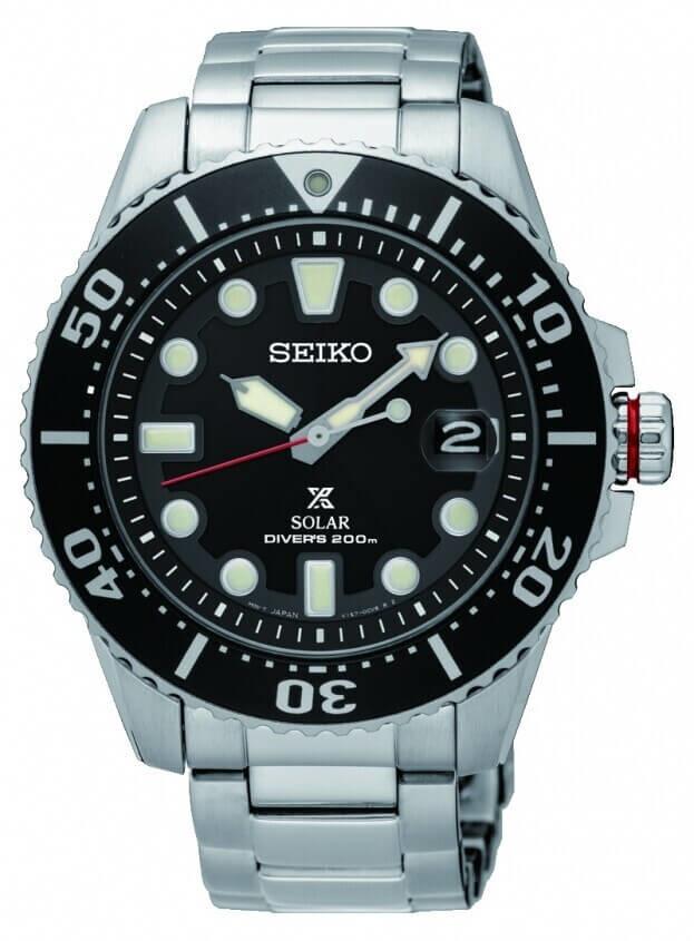SEIKO Prospex Solar Mens Watch 43.5mm Black Dial Bracelet