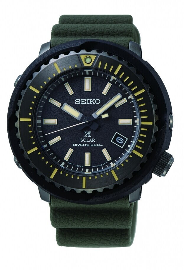 SEIKO Prospex Solar Mens Watch 46.7mm Black Dial