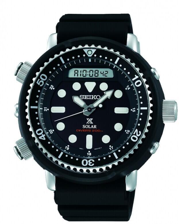 SEIKO Prospex Solar Mens Watch 47.8mm Black Dial