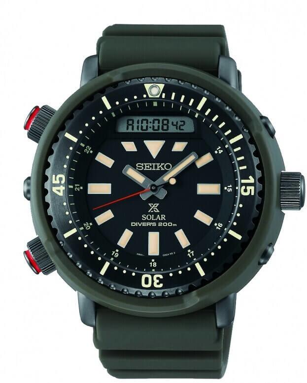 SEIKO Prospex Solar Mens Watch 47.8mm Chronograph Black Dial