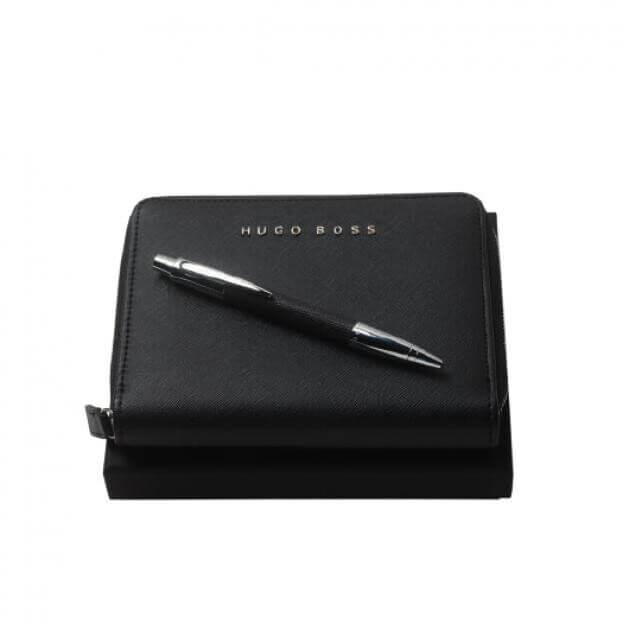 HUGO BOSS Σετ Δώρου Σημειωματάριο Μαύρο & Στυλό