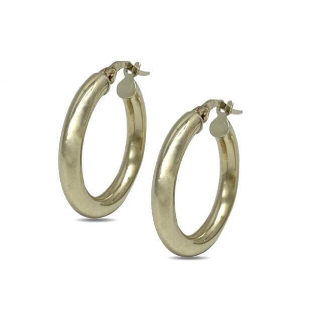 Σκουλαρίκια Inglessis Collection Κίτρινο Χρυσό Κ14 KO398