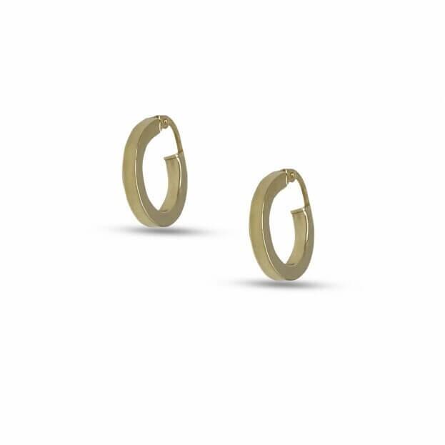 Σκουλαρίκια Inglessis Collection Κίτρινο Χρυσό Κ14 KO414
