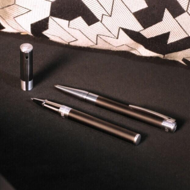 S.T. DUPONT BALLPOINT D-INITIAL BLACK-CHROME Μαύρο Στυλό