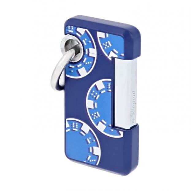 S.T. DUPONT Hooked CASIN-O Lighter BLUE D032010
