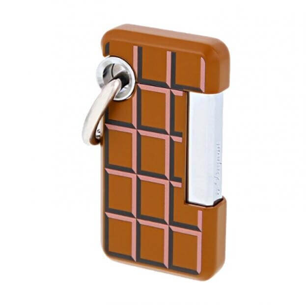 S.T. DUPONT Hooked CHOC-O Lighter BROWN D032011