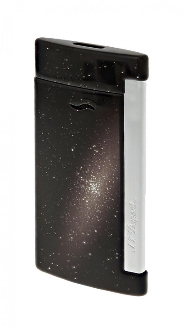 S.T. DUPONT LIGHTER SLIM 7 SPACE BLACK ΑΝΑΠΤΗΡΑΣ ΜΑΥΡΟΣ ΔΙΑΣΤΗΜΑ