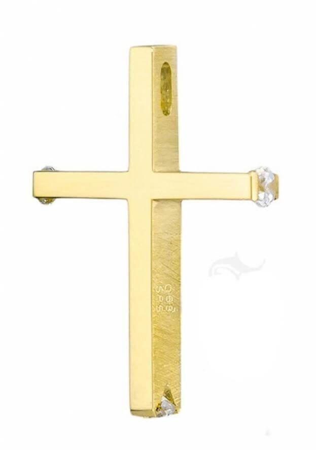 ΣΤΑΥΡΟΣ Κ14 ΚΙΤΡΙΝΟ ΧΡΥΣΟ TRIANTOS 111367ΚΧ