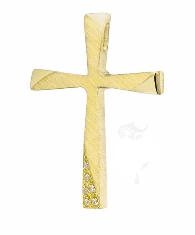 ΣΤΑΥΡΟΣ Κ14 ΚΙΤΡΙΝΟΣ ΧΡΥΣΟ TRIANTOS 111364ΚΧ