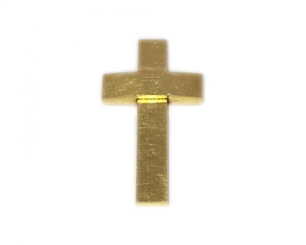 ΣΤΑΥΡΟΣ ΒΑΠΤΙΣΤΙΚΟΣ ΚΙΤΡΙΝΟ ΧΡΥΣΟ Κ18 ΣΤ164Κ