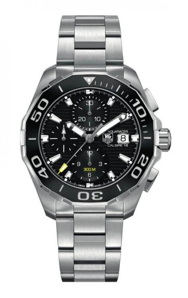 TAG HEUER Aquaracer Calibre 16 Automatic Chronograph 43mm Μαύρο Καντράν Ανδρικό Ρολόι