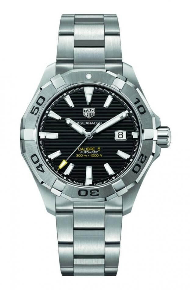 TAG HEUER Aquaracer Calibre 5 Automatic 43mm Μαύρο Καντράν Ανδρικό Ρολόι