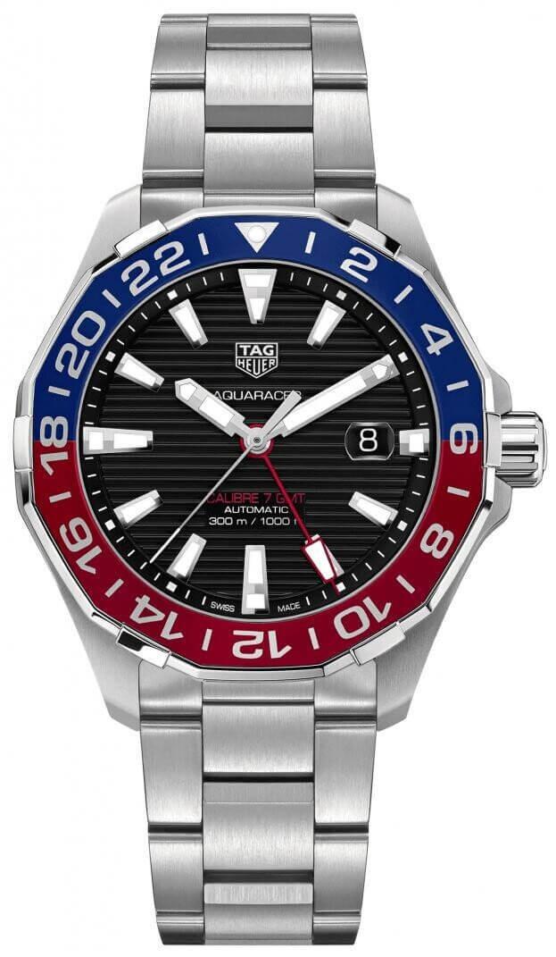 TAG HEUER AQUARACER CALIBRE 7 GMT AUTOMATIC Μαύρο Καντράν Ανδρικό ρολόι