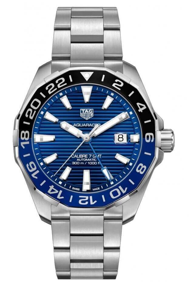 TAG HEUER Aquaracer Calibre & GMT Automatic 43mm Μπλε Καντράν Ανδρικό Ρολόι