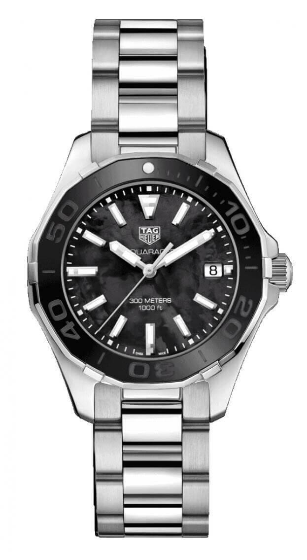 TAG HEUER Aquaracer Quartz 35mm Μαύρο Καντράν Γυναικείο Ρολόι