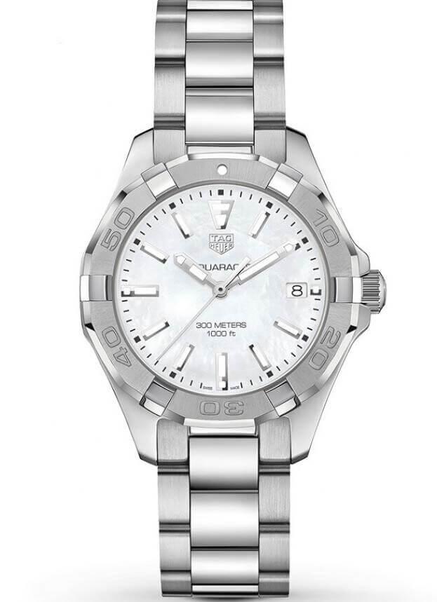 TAG HEUER Aquaracer Lady Quartz 35mm Λευκό Mother-of-Pearl Καντράν Γυναικείο Ρολόι
