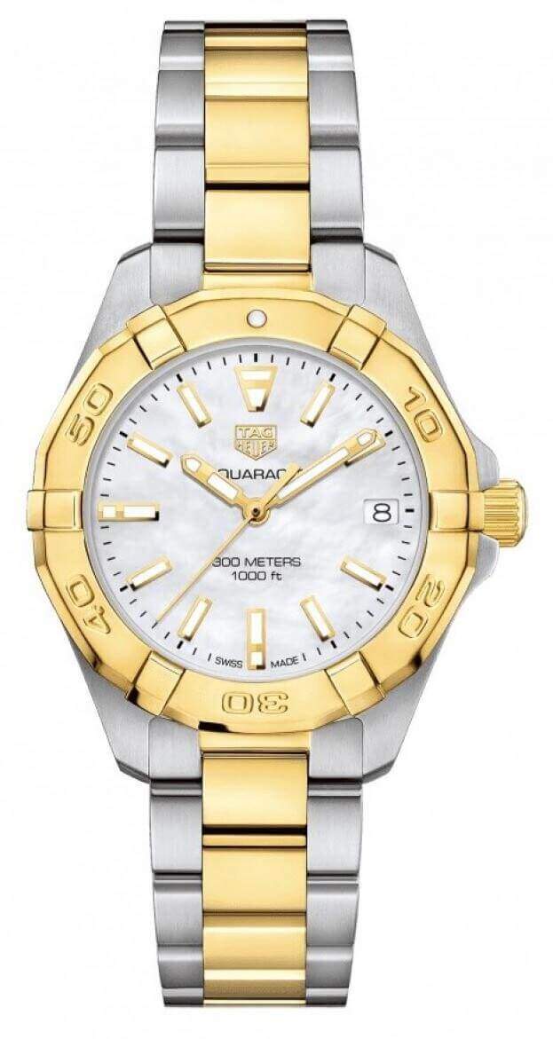 TAG HEUER Aquaracer Lady Quartz 32mm Λευκό Mother-of-Pearl Καντράν Γυναικείο Ρολόι