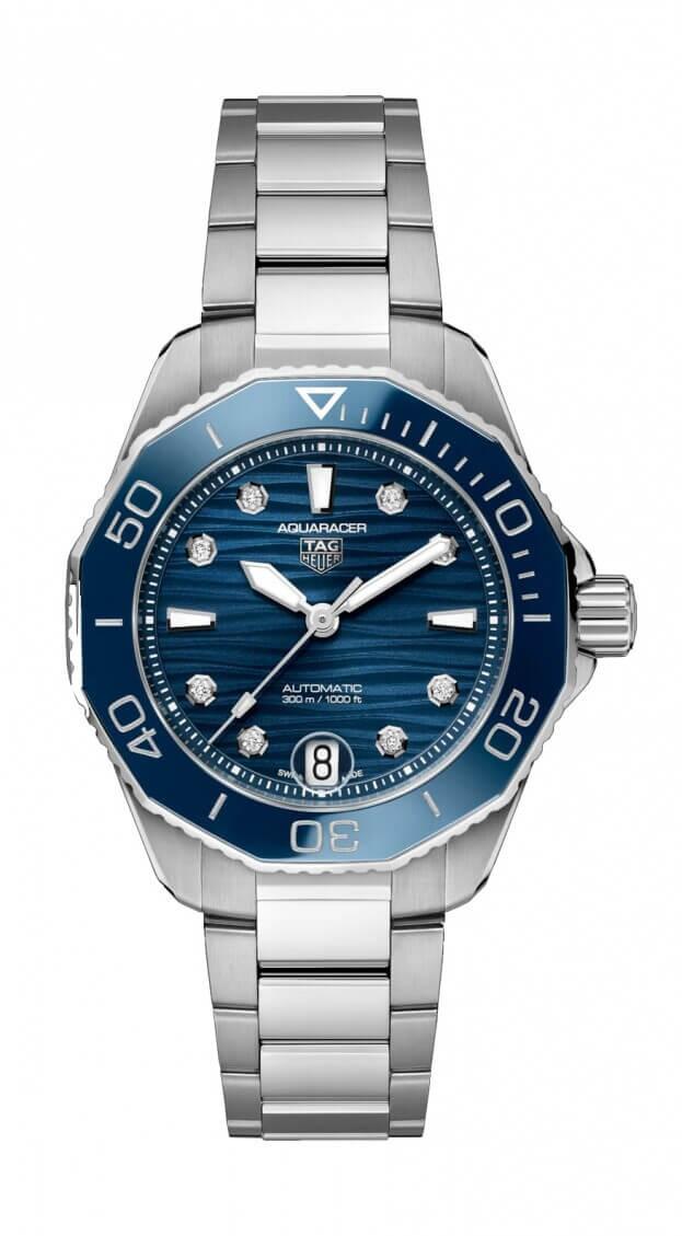 TAG HEUER AQUARACER PROFESSIONAL 300 Automatic Watch 36mm Μπλε Καντράν με Μπριγιάν Γυναικείο Ρολόι