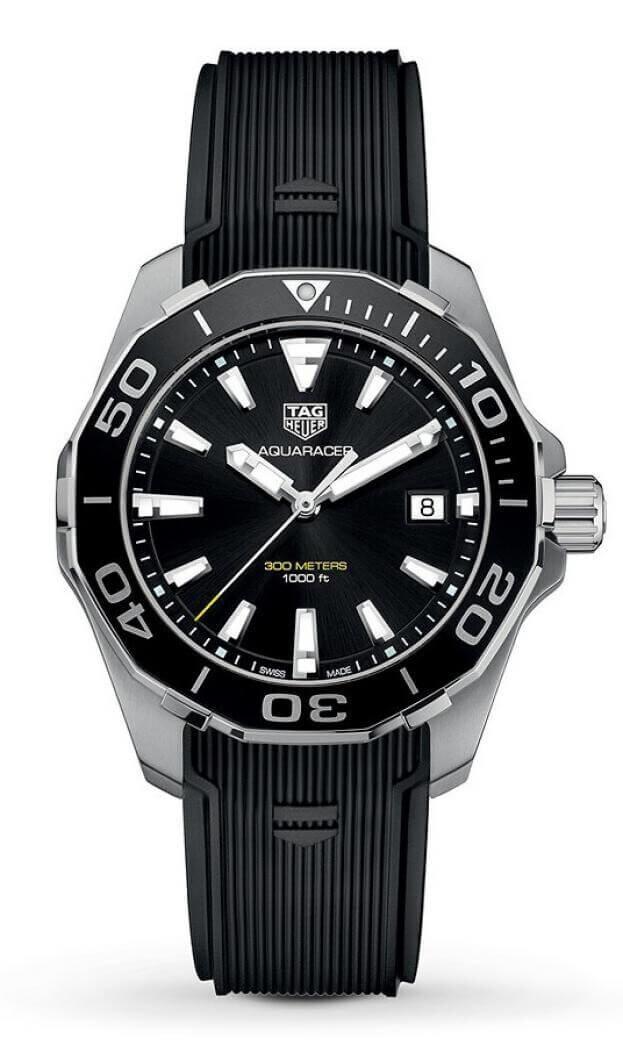 TAG HEUER Aquaracer Quartz 41mm Μαύρο Καντράν Ανδρικό Ρολόι