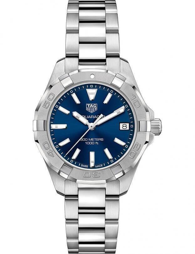 TAG HEUER Aquaracer Quartz 32mm Μπλε Καντράν Γυναικείο Ρολόι