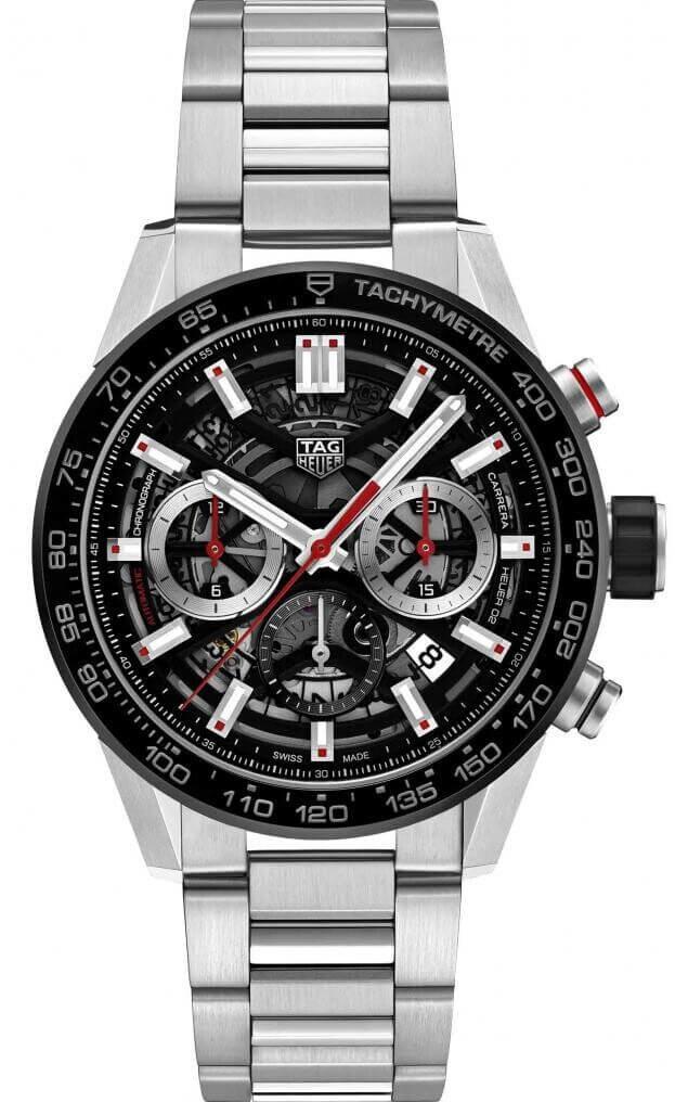TAG HEUER CARRERA CALIBRE HEUER 02 AUTOMATIC Μαύρο Καντράν Ανδρικό Ρολόι