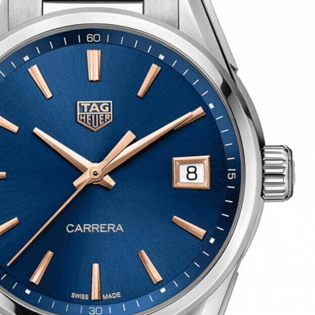 TAG HEUER Carrera Lady Quartz 36mm Μπλε Καντράν Γυναικείο Ρολόι
