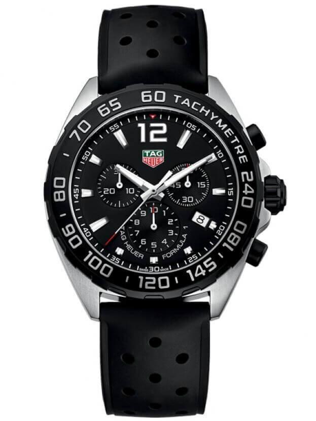 TAG HEUER Formula 1 Quartz Chronograph 43mm Μαύρο Καντράν Ανδρικό Ρολόι